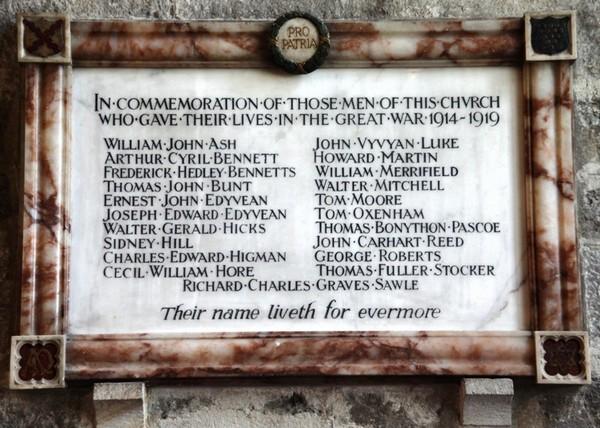 Parish Church Memorial FACE -