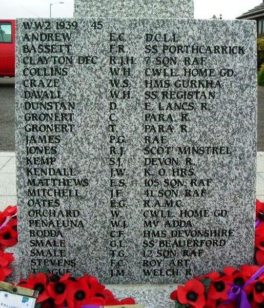 War Memorial FACE - Carn Brea War Memorial