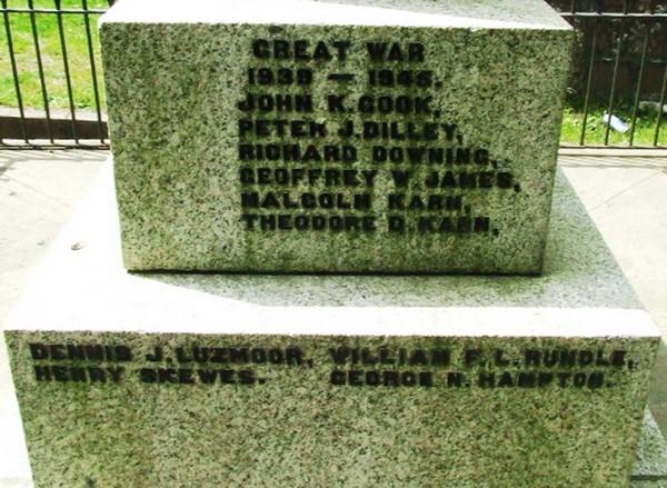 War Memorial FACE - Crowan War Memorial